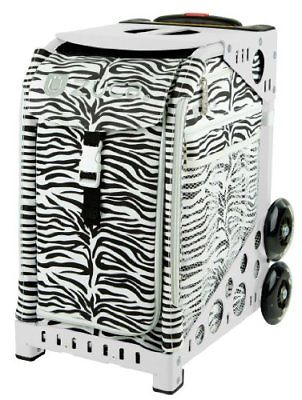 Zuca Sport Insert Bag, Zebra & White Frame with Flashing Wheels
