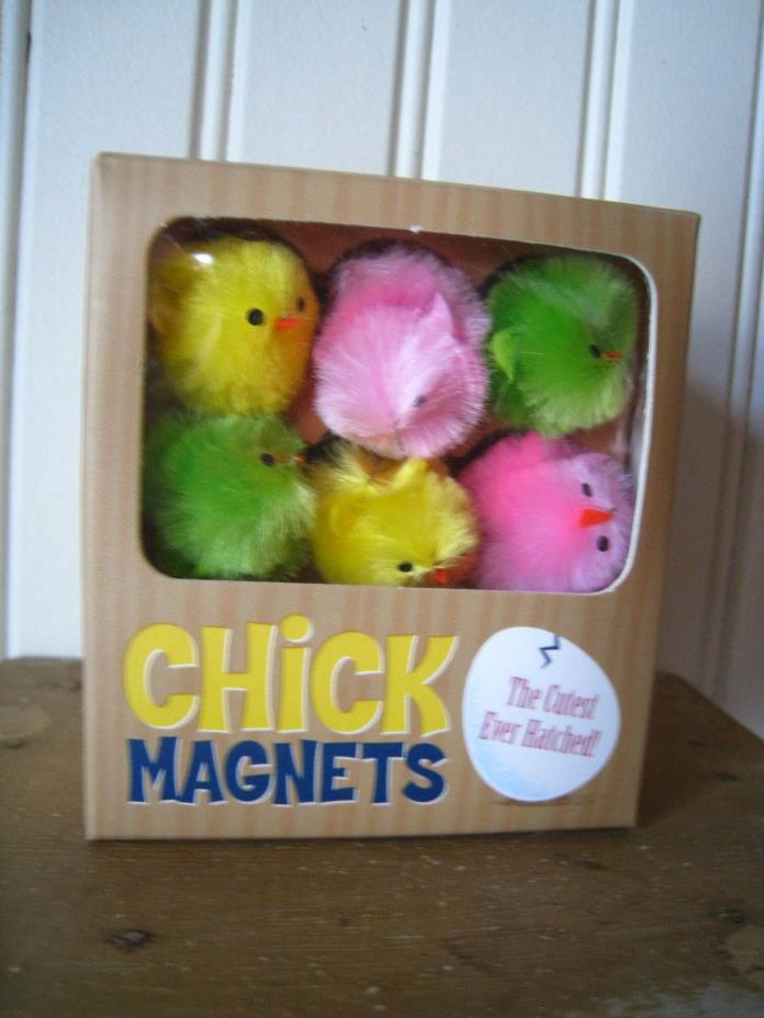 Colorful EASTER CHICK MAGNETS New In Box ~ Cute