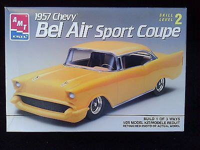 AMT 1/25  1957 Chevy Bel Air Sport Coupe Plastic Model Kit # 6563  OPENED BOX