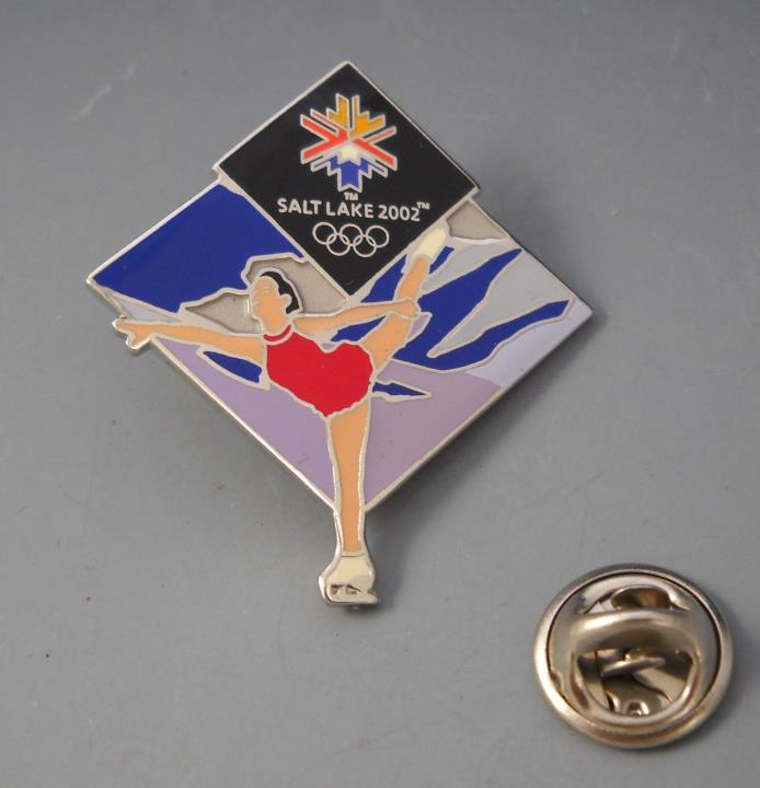 Salt Lake 2002 Olympics Limited Edition Collector's Pin Figure Skater 1/2002