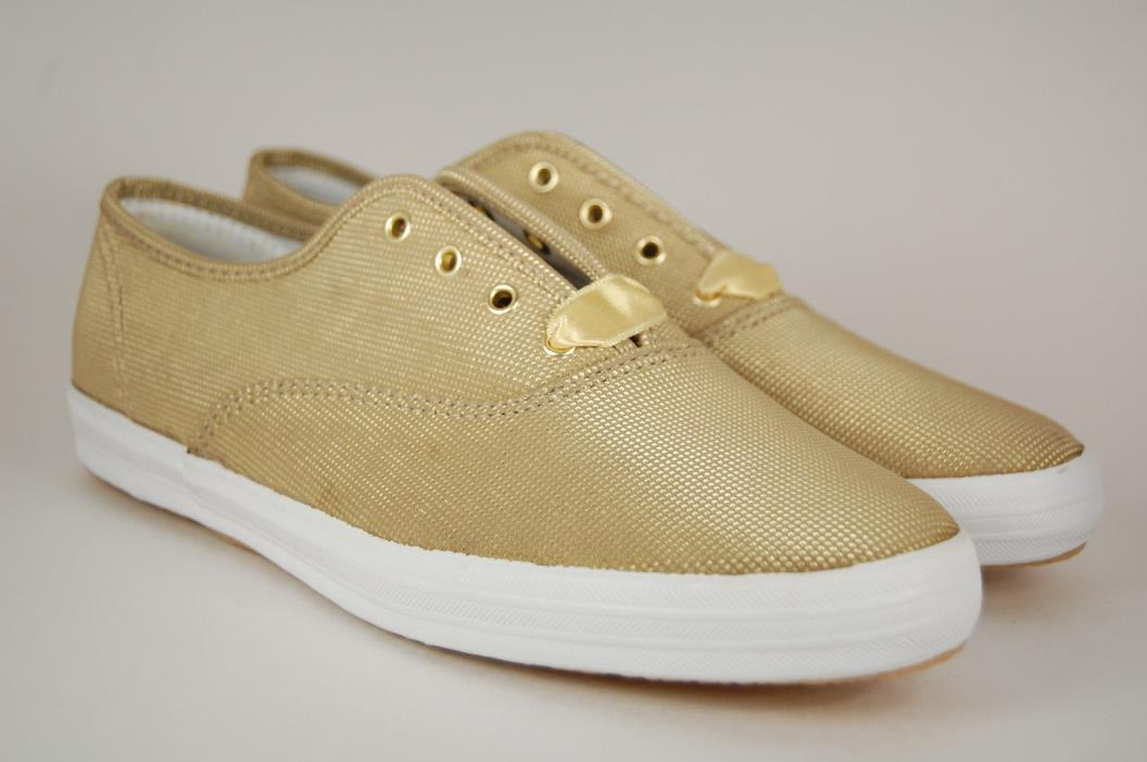 Keds vintage NOS 90's textured gold sneaker shoes ribbon laces 8.5M