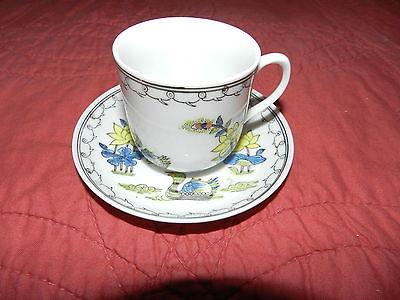 ACF Vintage Porcelain Demitasse Cup & Saucer - Decorated in Hong Kong