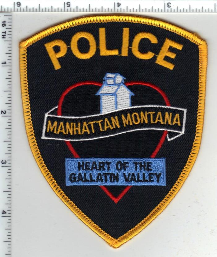 Manhattan Police (Montana) Shoulder Patch - new from the 1980's
