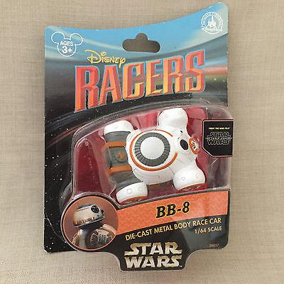 Disney Racers BB-8 Die-Cast Metal Body Race Car New The Force Awakens Finn Rey