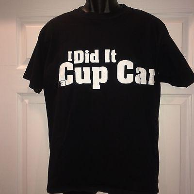 NASCAR Jeff Gordon Racing School I Did It In a Cup Car Black T Shirt Size Medium
