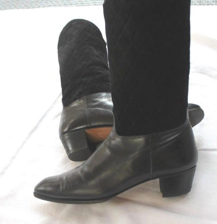 Salvatore Feragamo quilted boots Size 10 1/2 AA
