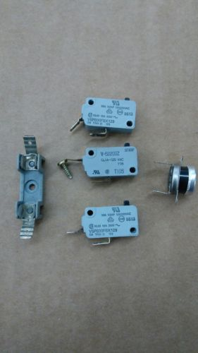 Mixed lot of Microwave Parts / switches , fuse holder  , thermal
