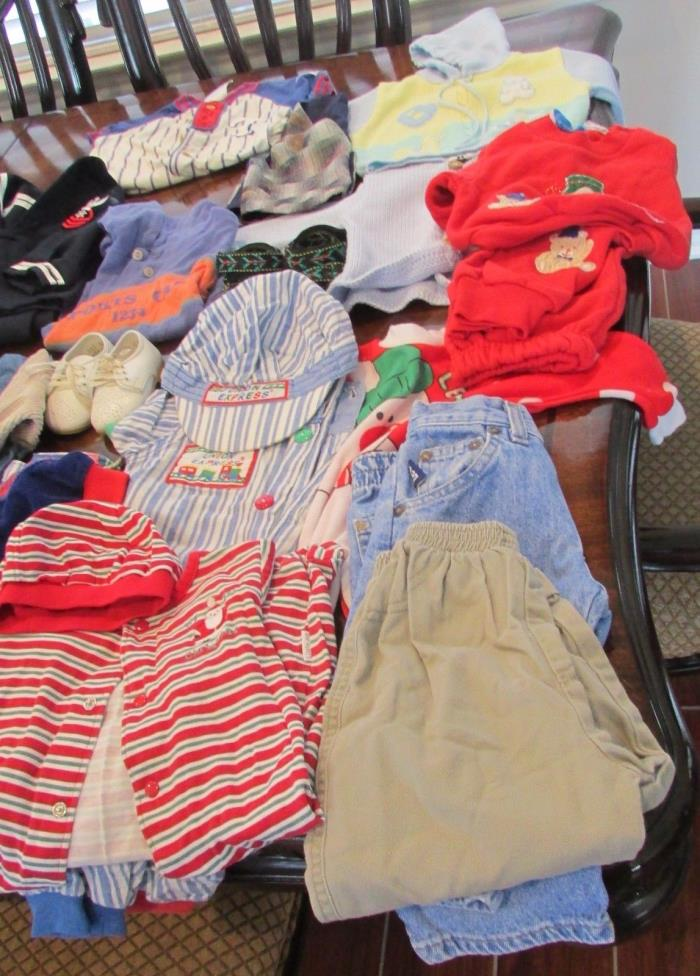 Lot of (25) Boy's Clothes - (Sizes 6 mo - 24 mo)