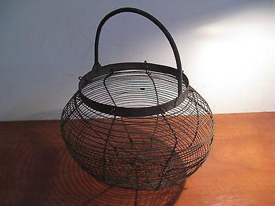 Antique metal egg basket ... in France