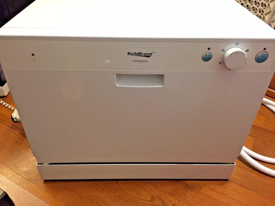 Koldfront Countertop Dishwasher, 6 Setting White Compact Portable Dish Washer