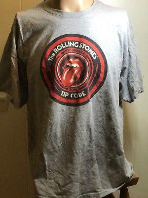 Rolling Stones 2015 ZIP CODE Tour T Shirt 2X Large Grey