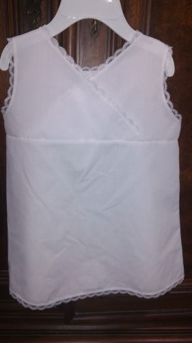 Girls 24m White Full Slip