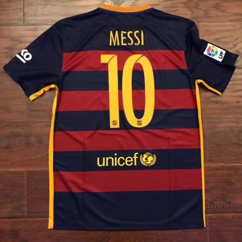 2015/16 Barcelona Home Jersey #10 Messi Medium Camiseta Maillot Maglia S/S BNWT