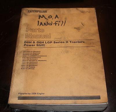 CAT Caterpillar D6H LGP Series II Tractors Power Shift Parts Manual Catalog Book