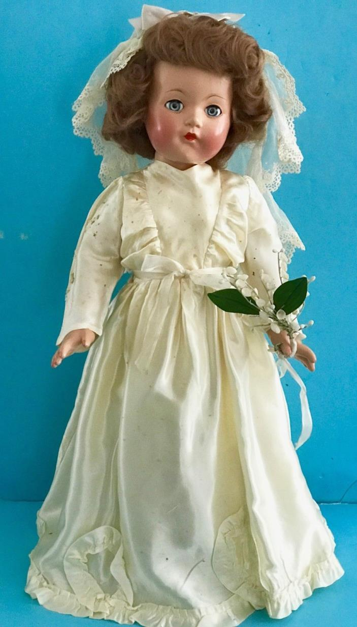 Vintage NMIB Effanbee Little Lady Anne Shirley Bride Doll in Orig Clothes Shoes