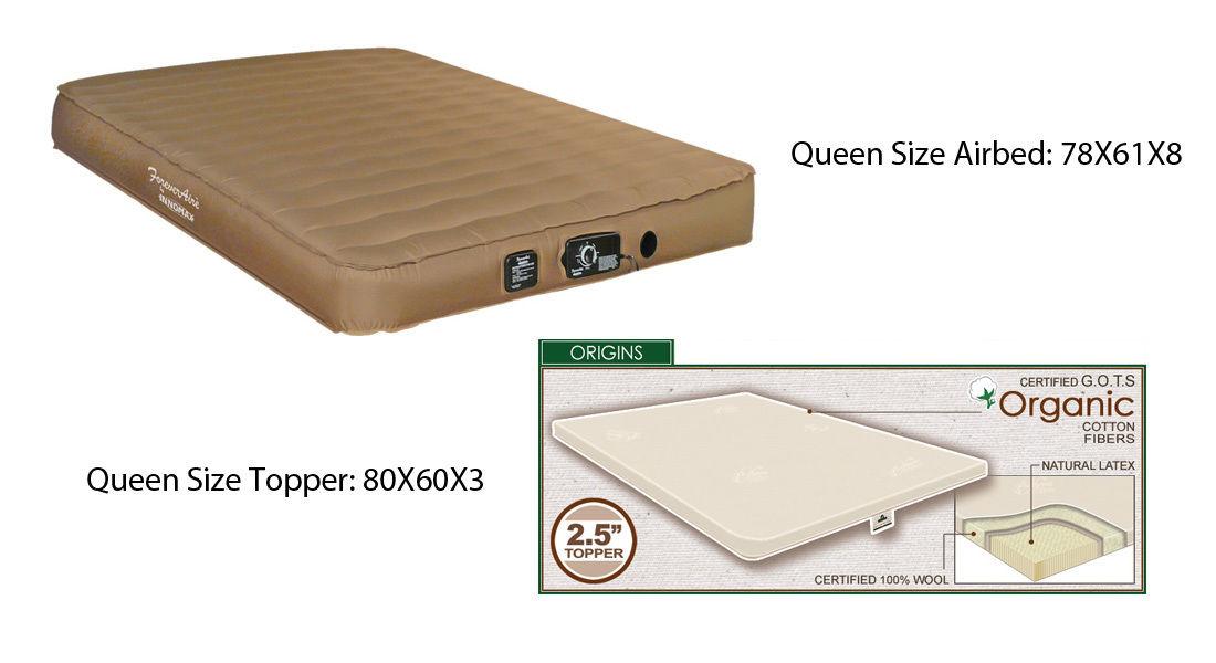 QUEEN Size Airmattress RV Air Mattress Guest and 2.5