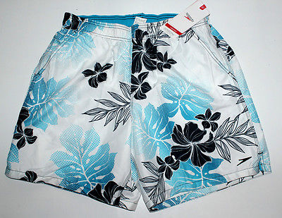 SPEEDO SPEEDRY / BEACH SHORTS FLORAL WHITE FOR MEN MEDIUM   WATERSHORTS