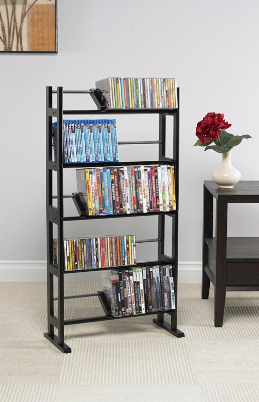 150 DVD BluRay Games Tower Stand Organizer Rack Shelf Holder Storage Media Video