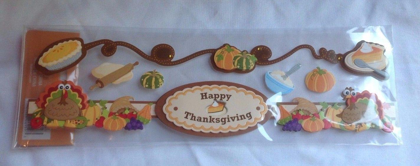 Fall Autumn Handmade Stickers Thanksgiving Holiday DIY Arts & Crafts Adhesives