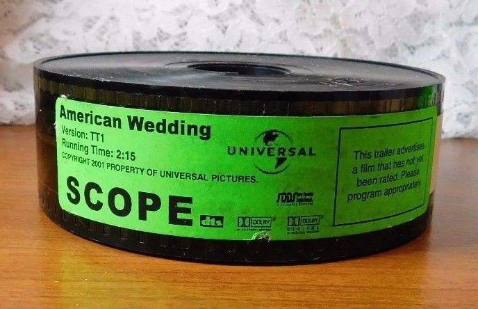 American Wedding 35mm Film Movie Trailer