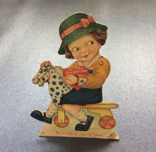 Mechanical Vintage Valentine Made in USA