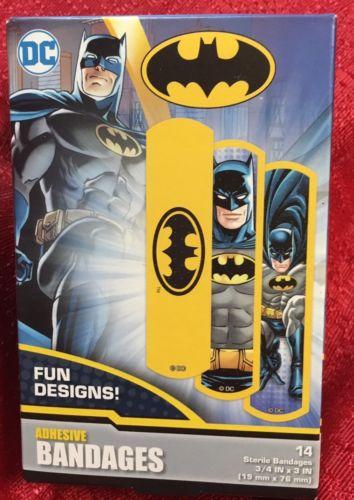 Batman BANDAIDS BOX OF 20 - DC Comic Book Fun Designs