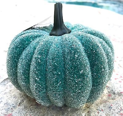 BRAND NEW HALLOWEEN BLUE SUGAR COATED PUMPKIN HOME DECOR DECORATION ORNAMENTS