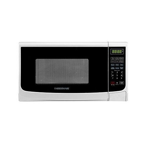 Classic Microwave Oven White One Touch Memory Function Digital Control Kitchen