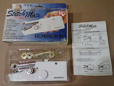 Vintage Remington Stitch Mate Hand Held Sewing Machine Working Battery Operated