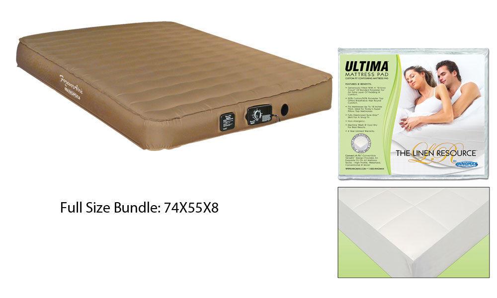 FULL Size Airmattress RV Air Mattress Guest and FULL Size Mattress Pad Ultima