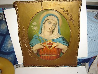 antique religious picture 26 x 22 very old