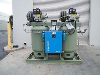 2 Sullair ES6H 5 hp rotary screw air compressor tank dryer ingersoll rand 10 hp