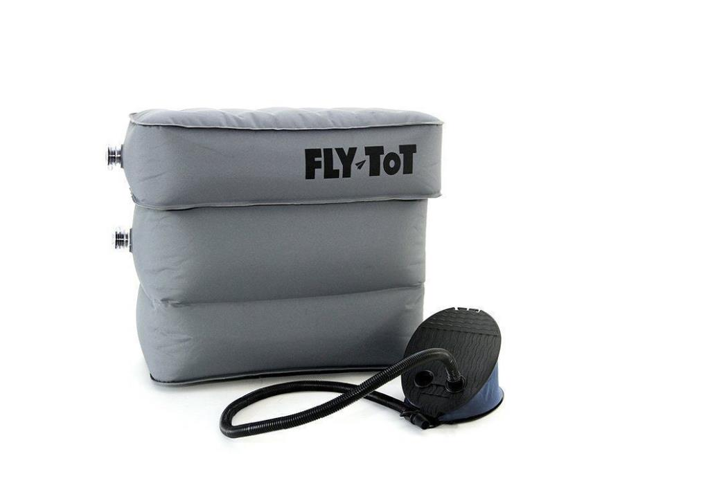 Fly Tot Inflatable Airplane Cushion (Grey, with foot pump)