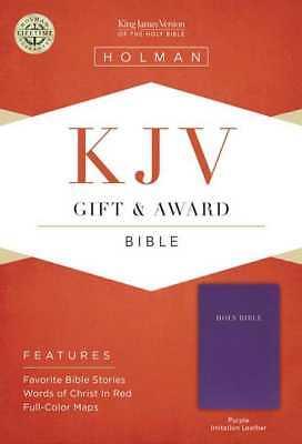 KJV Gift & Award Bible-Purple Imitation Leather