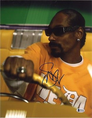 Snoop Dogg Signed Photo Autographed 11x14 BAS COA Beckett Snoop Lion Shades