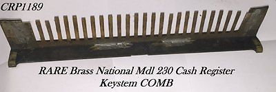 OLD & ORIG Brass Nat'l Mdl. 230 Ornate Cash Register KEYSTEM