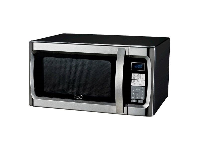Oster 1.3 Cu. Ft. 1100 Watt Microwave Oven, Black MINOR DENT 15632707