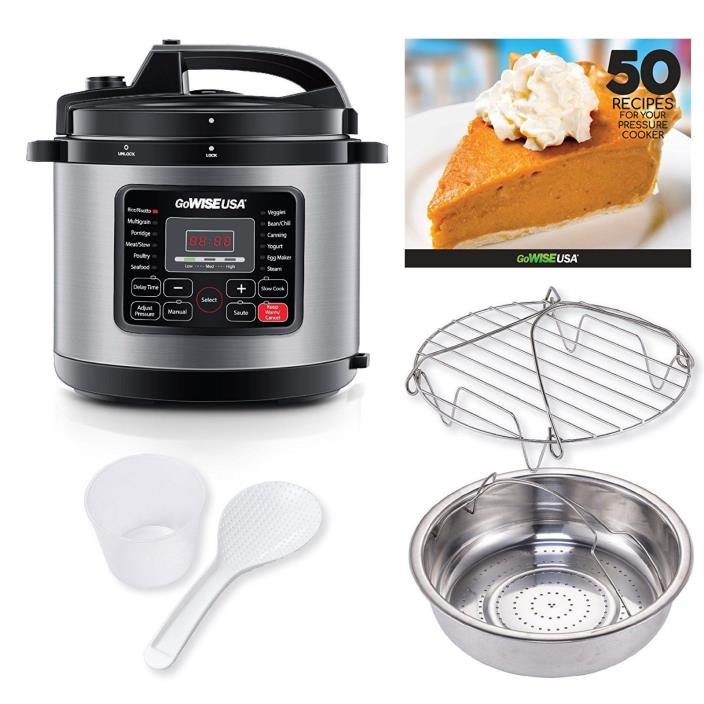 Programmable Pressure Cooker 9 Functions Ultra 6 Qt 10 in1 Multi Use Slow Cooker