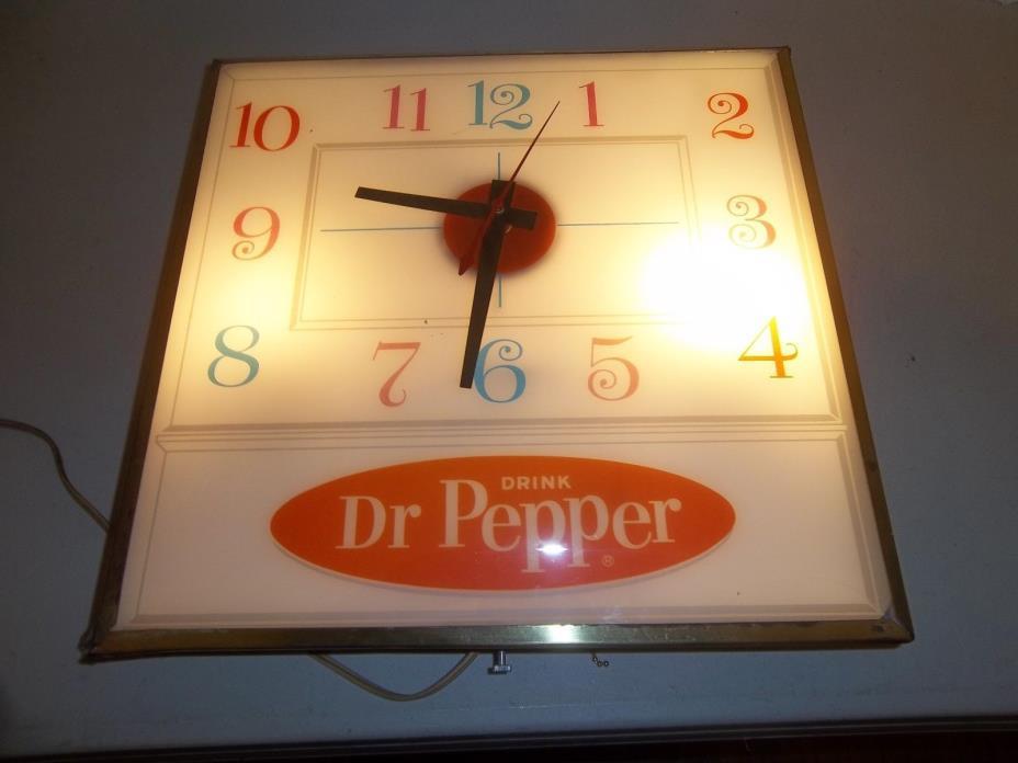 Vintage  Pam Clock Dr. PEPPER