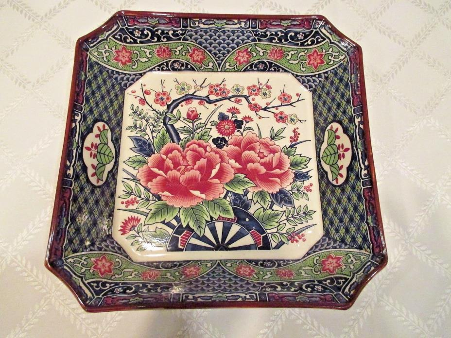 Antique Imari Square Platter or Deep Vegetable Dish Beautifully Decorated, Japan