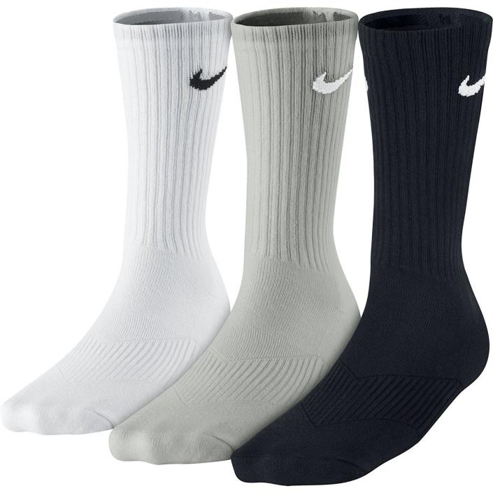 Nike Boys Cotton Crew 3-Pack Socks SX4719-967 Multi Color US Size Small