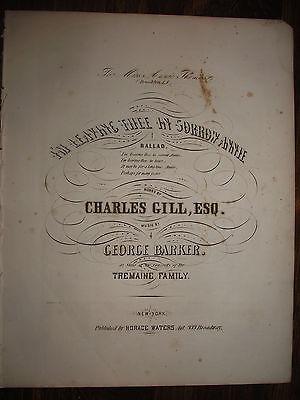 1860'S CIVIL WAR ERA SHEET MUSIC ~ I AM LEAVING THEE IN SORROW ANNIE ~