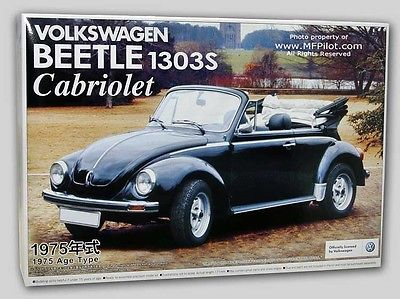Aoshima 1975 VW Volkswagen Beetle 1303S Cabriolet Model Kit 1/24