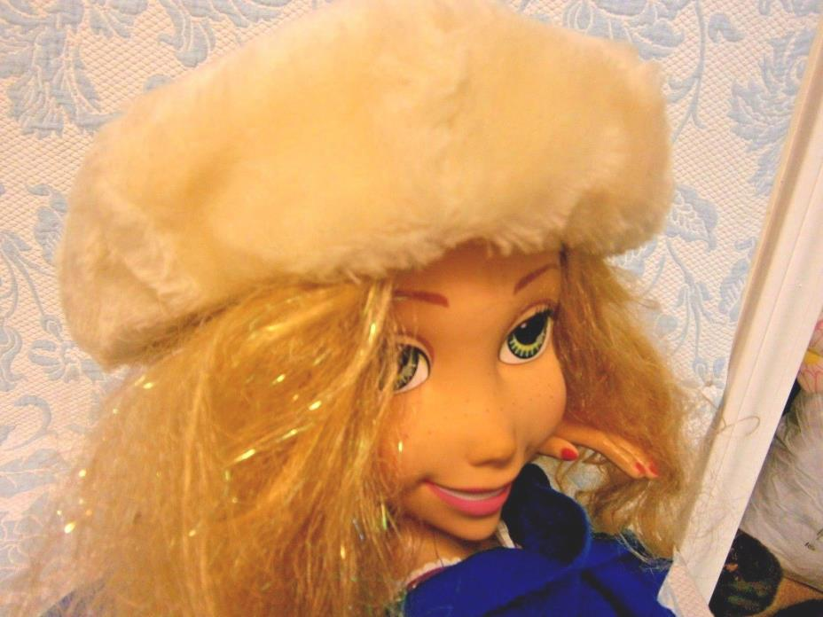 Vintage Faux Fur Off White Cap Hat Beret Tea Derby Church