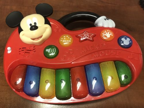 Disney Mickey Mouse Interactive Electronic Piano in Excellent Preowned Condition