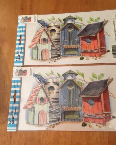 Nwt 2 Birdhouse Rub Ons