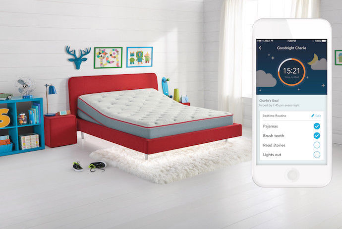NEW SLEEP NUMBER SLEEP IQ KIDS  ADJUSTABLE BED MATTRESS COMPLETE SMART BLUETOOTH