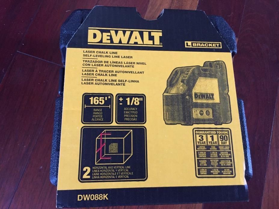 DEWALT Self-Leveling Line Laser DW088K - New in Box