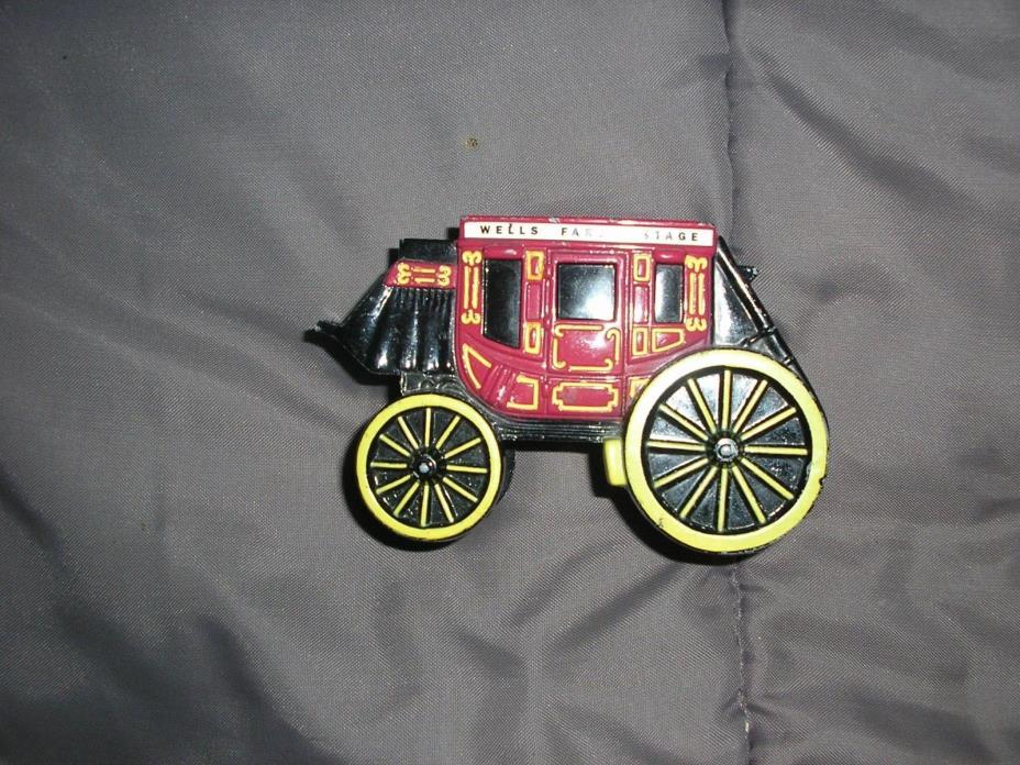 Cast Iron Painted Wells Fargo Bank , Western Cowboy Decor