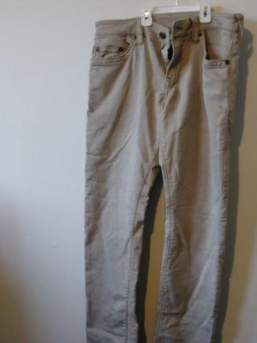 True Religion Jeans Geno Slim Stretch w/Flap Overdye Tan Mens Size 33